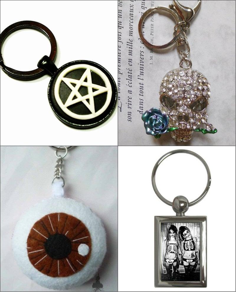 Goth keychain