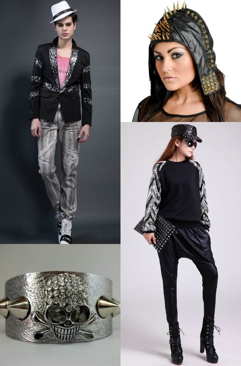 Glam punk fashion