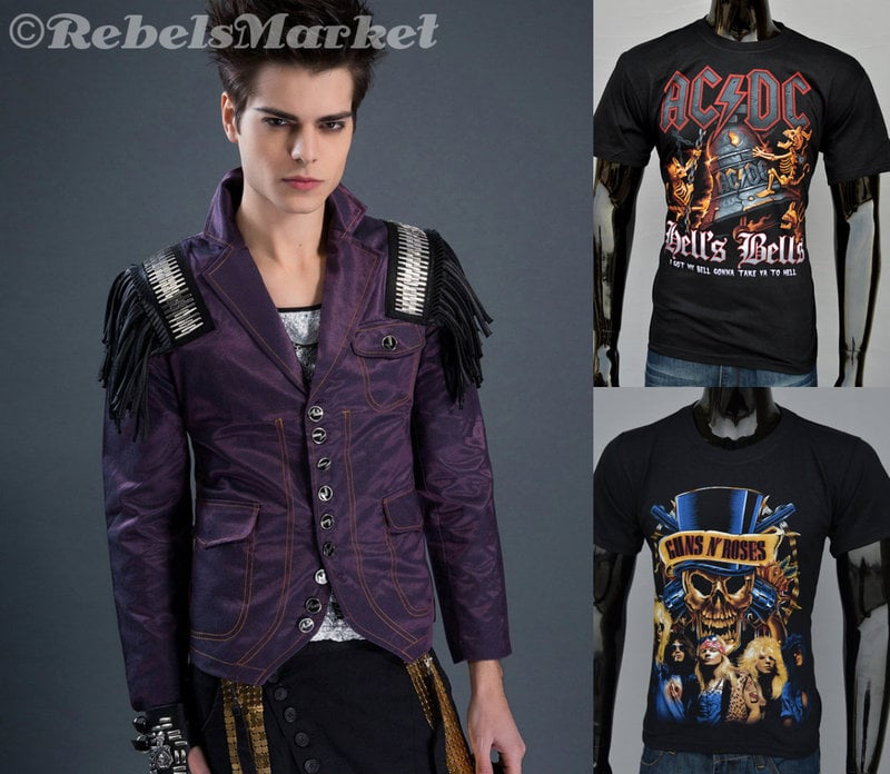 rocker men fashion