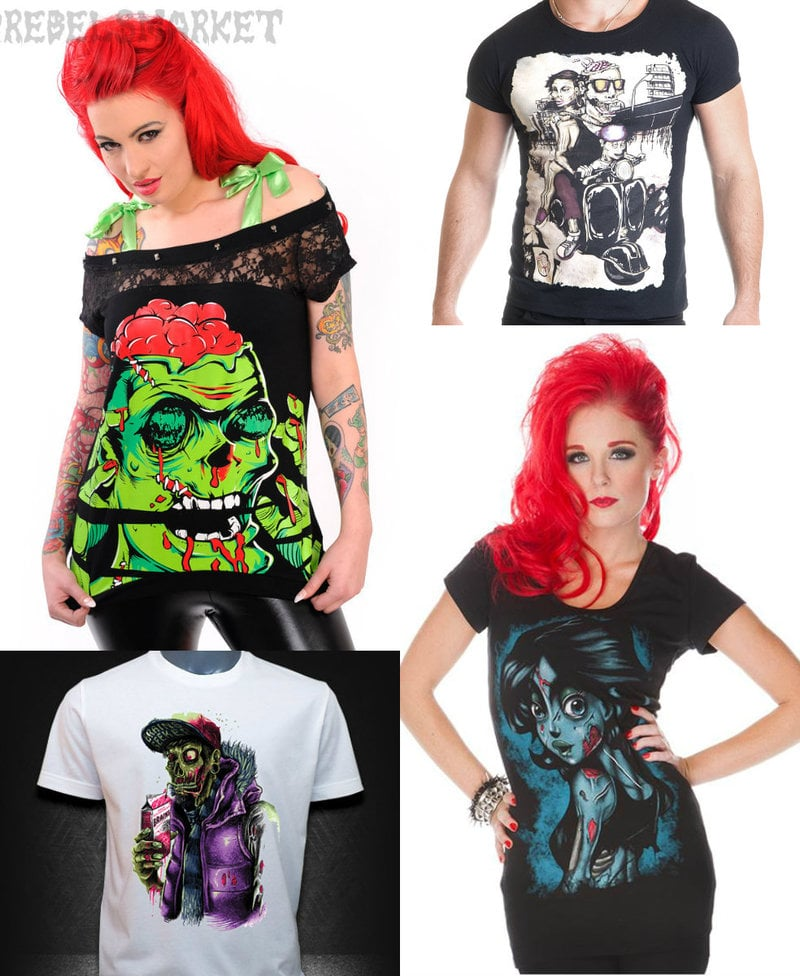 zombie shirts for men and women