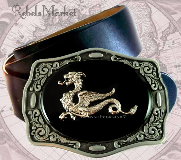 steampunk men belt buckle