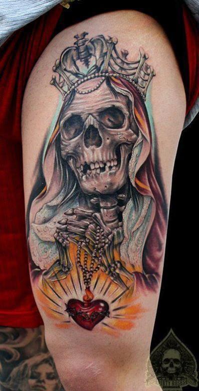 leg men tattoo