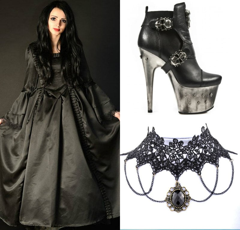 goth victorian women fashion