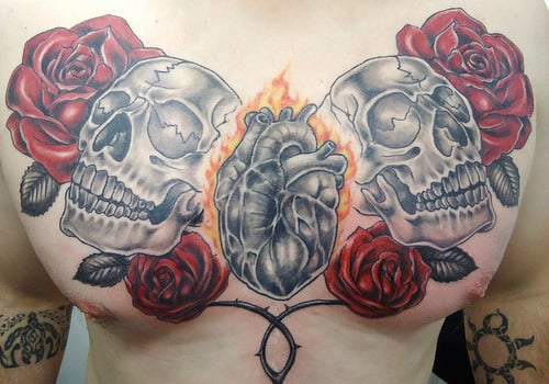 chest men tattoo