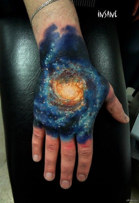 Nebula Space_galaxy_universe_milky_way_Hand_tattoo