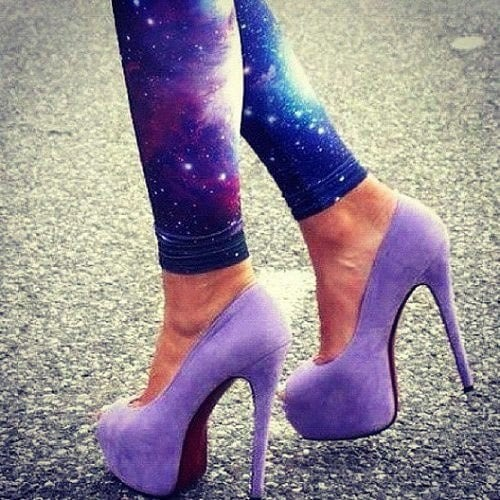 galaxy leggings universe tights & high heels on Rebelsmarket