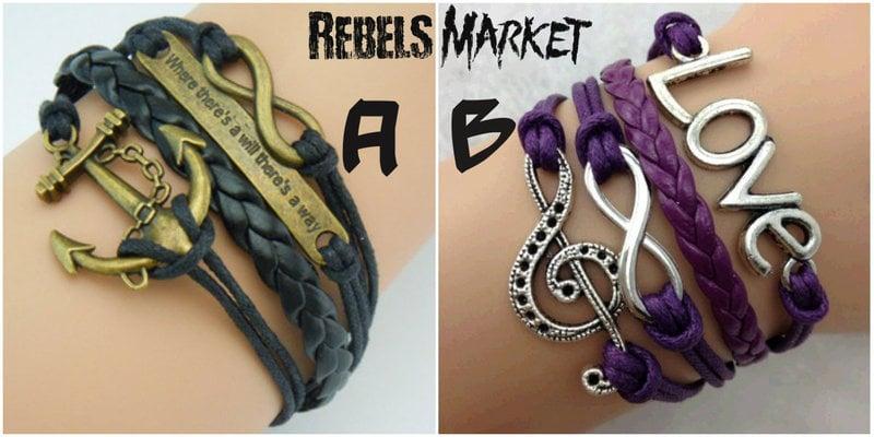 Infinety Rope Love Symbol Bracelets
