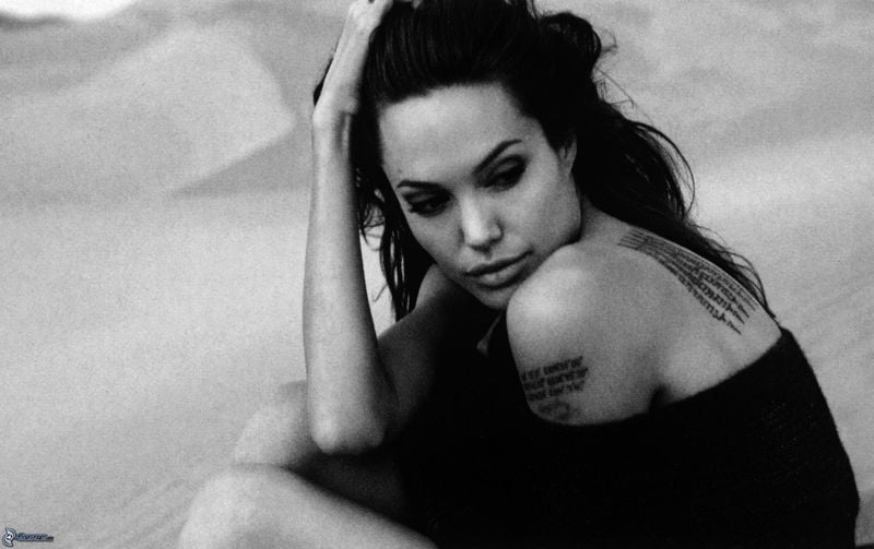 Angelina Jolie is a celebrity mom with tattoos