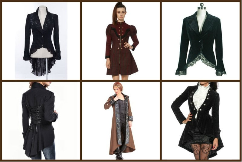 Jackets with Victorian details.