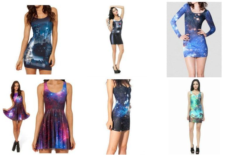 Bodycon Galaxy Dresses