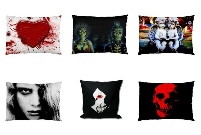 Gothic Throw Pillows from RebelsMarket
