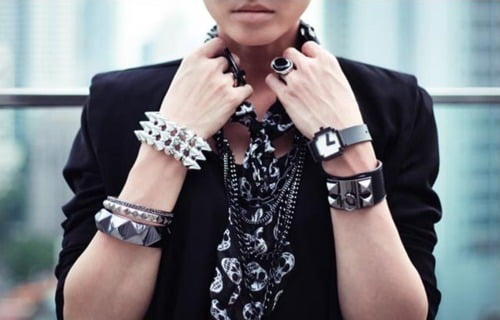 Wear bracelets with other accessories