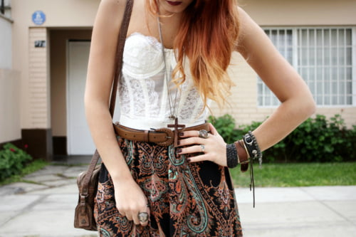 Corset tops can be worn in many ways