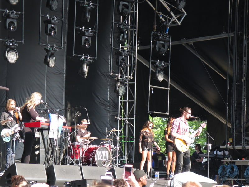 Hozier packed The Lawn stage on the final day of Firefly 2015