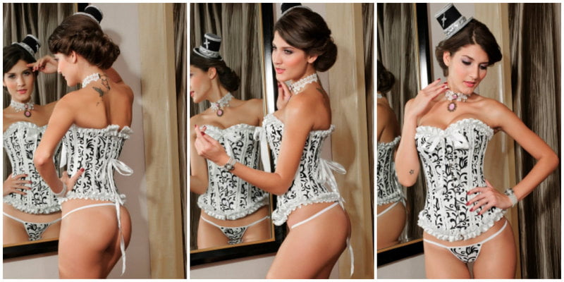 Corsets from wedding ceremony to honeymoon vacation.