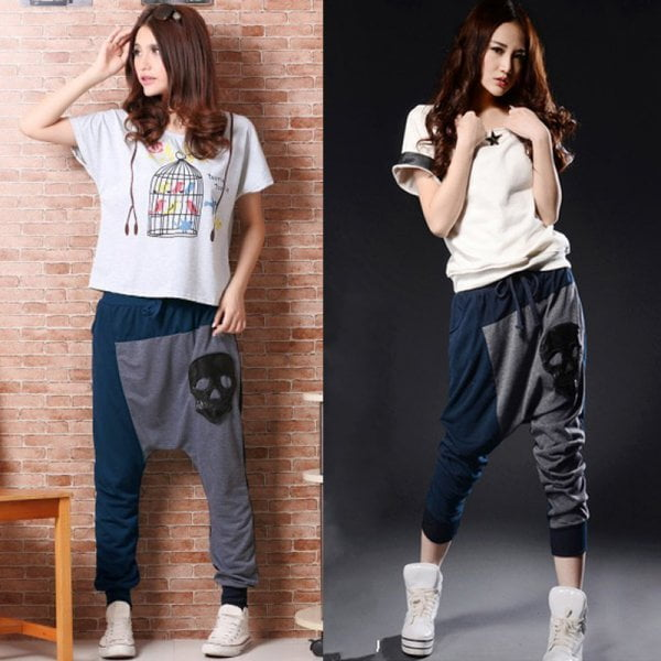 Harem pants are now mainstream.