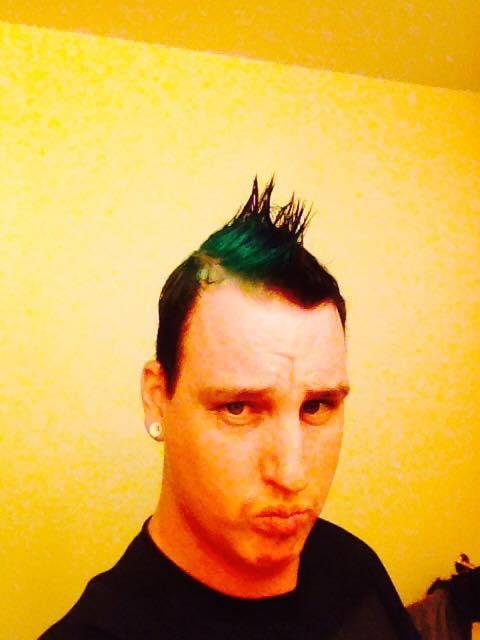 Merman Hair Green Mohawk