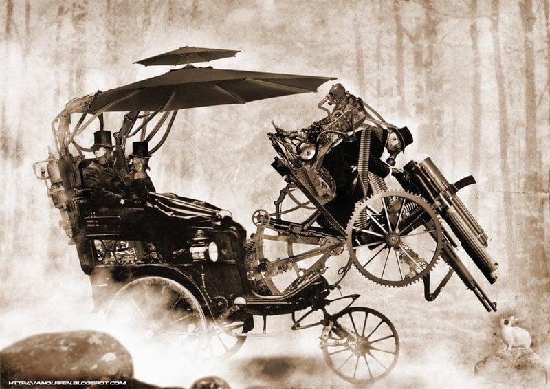 Steampunk inspired transportation