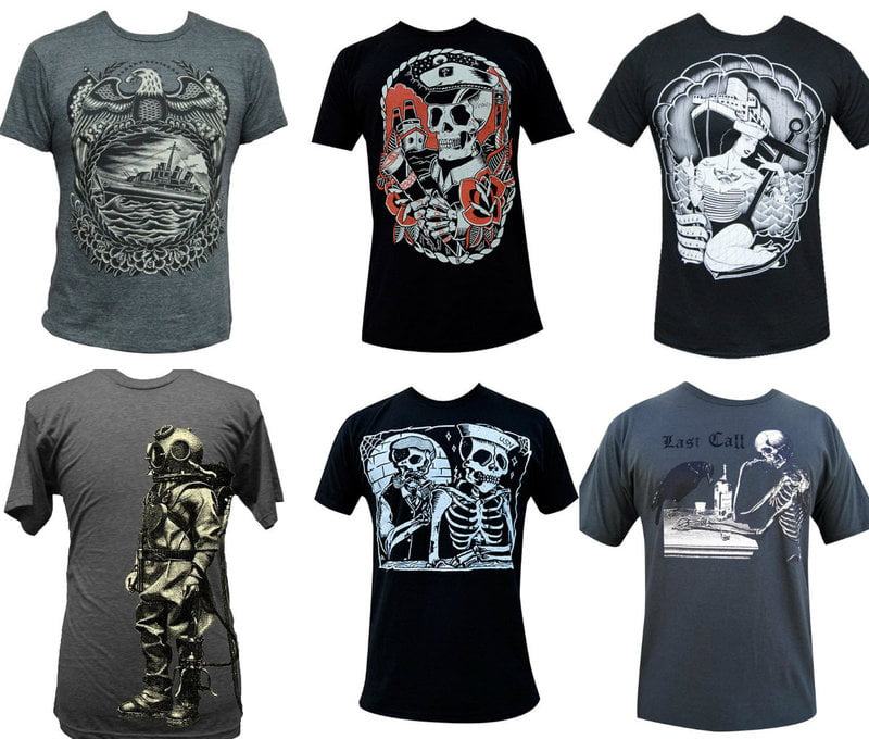 Nautical Print Shirts For Men on RebelsMarket