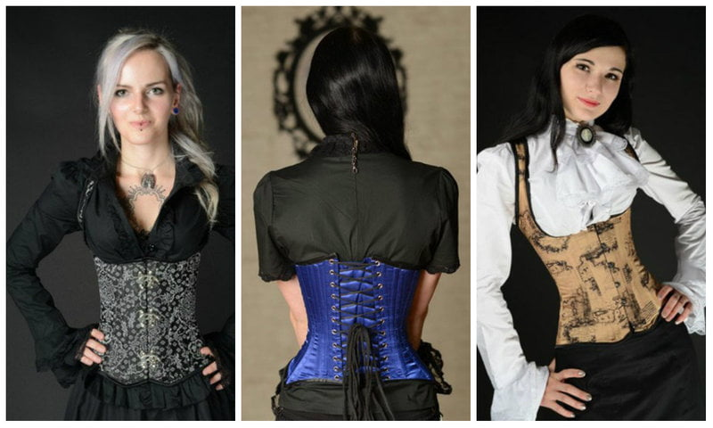 Underbust corsets and lacing