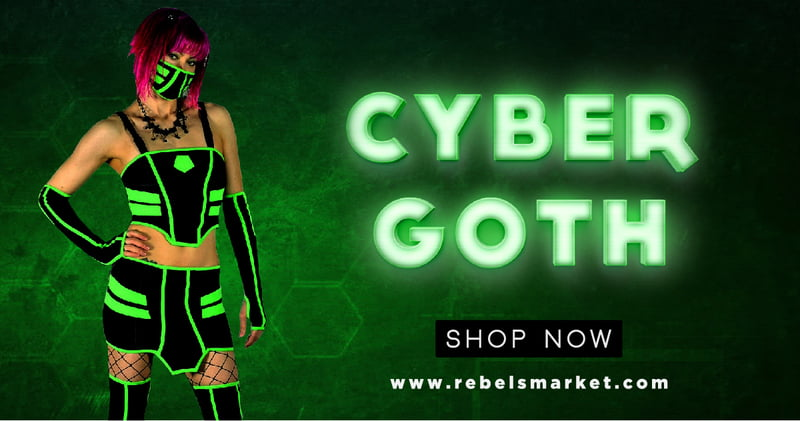 Shop Cyber Goth Fashion on RebelsMarket