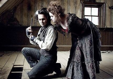 Johnny Depp and Helena Bonham Carter brought back Victorian style in Sweeny Todd