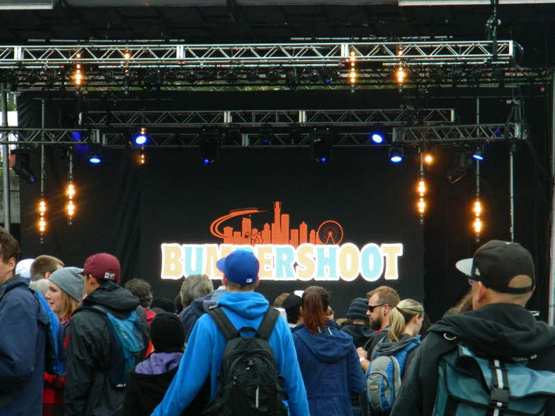 An outdoor stage at Bumbershoot 2015