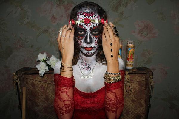 Dia de los Muertos Lady Calavera, Day of the Dead fashions