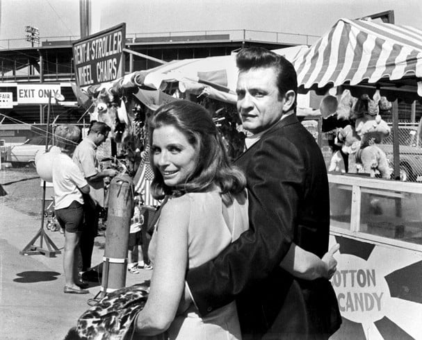 Young Johnny Cash and June Carter