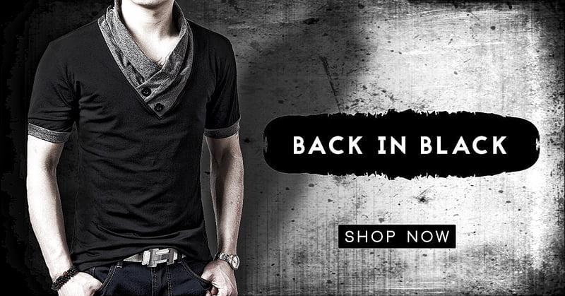 Basic Black fashion for Men