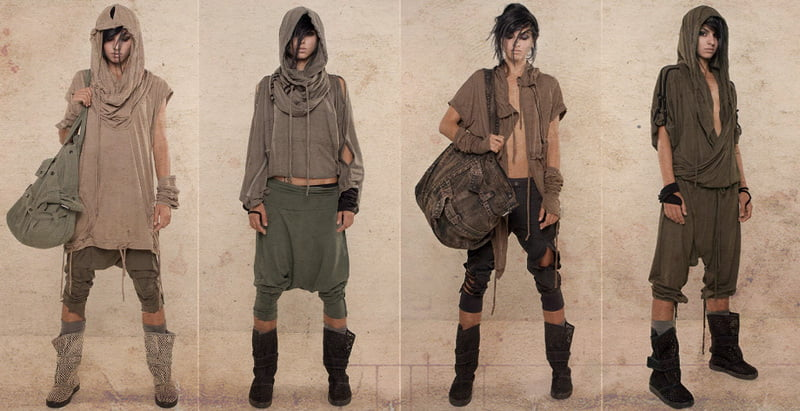 Hooded shirts are very important in post apocalyptic clothing