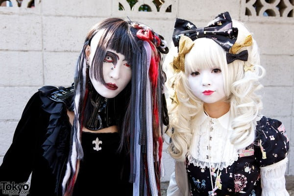 Cute lolita or visual kei style, japanese fashion and clothing is very popular