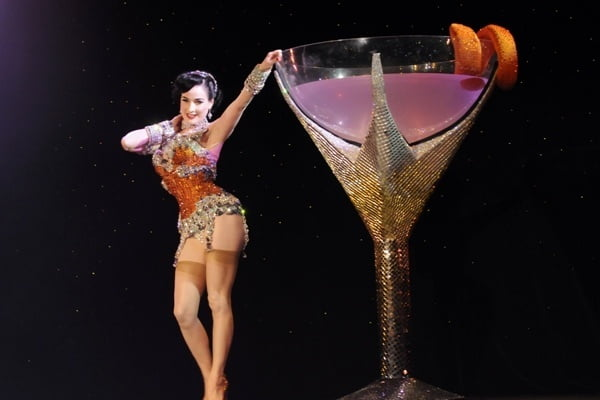 Dita Von Teese is famous for her burlesque act incorporating a giant martini glass.