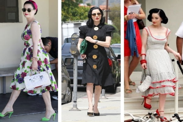 Dita's everyday style is casual but still feminine.