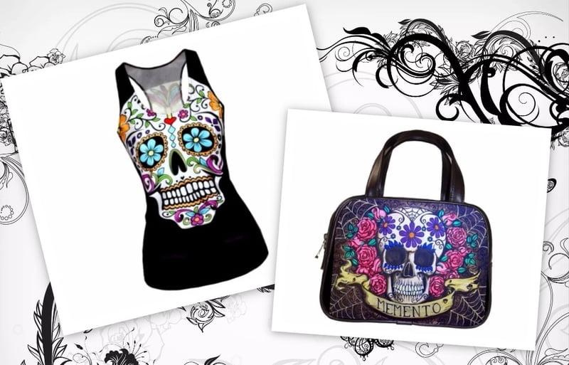 Buy cheap sugar skull clothing at RebelsMarket!