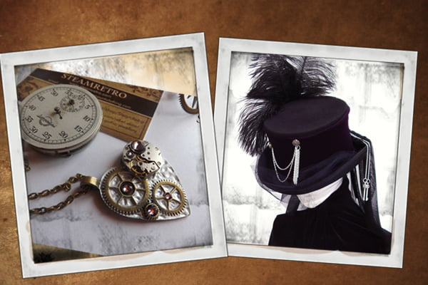 Buy Steampunk props, steampunk bags, steampunk art and steampunk flasks at RebelsMarket.