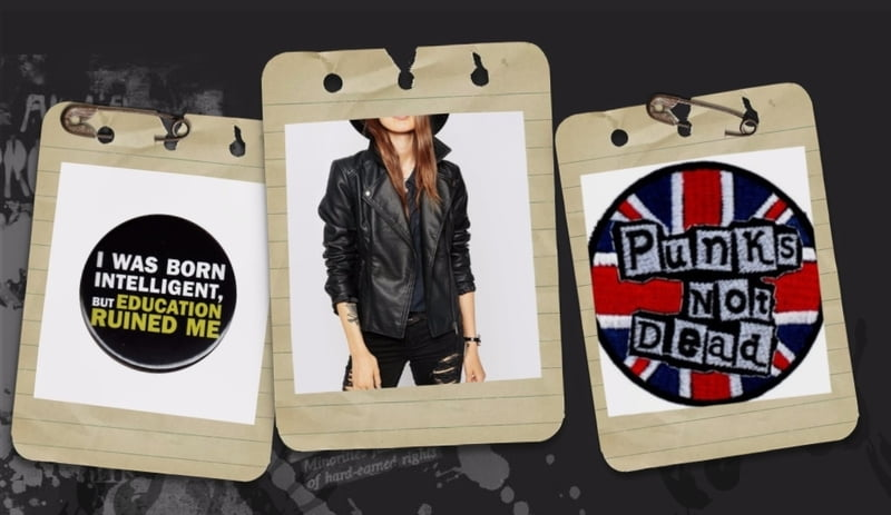 Buy punk black leather jackets and patches at RebelsMarket!
