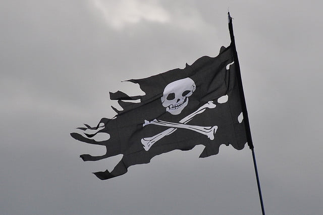 The pirate flag- Jolly Roger or Skull n Bones- are very influential icons.