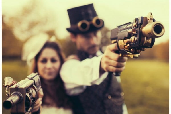 Steampunk accessories- like these guns- can make your entire outfit.