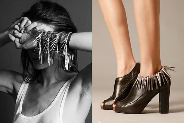 Long, thin spikes that resemble fringe are a great way to wear spikes in a more elegant way.