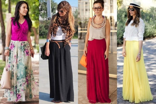 Maxi skirts are popular in Japan no matter the season.