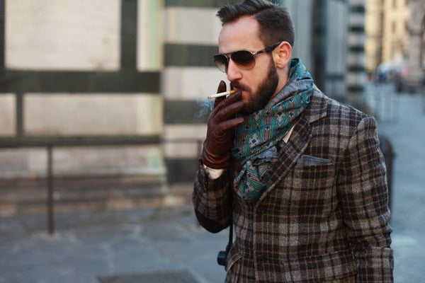 Men's scarves are a great accessory for every season, but especially in the fall.