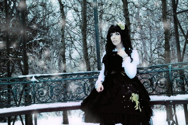 Gothic lolita is all about combining the cuteness of the doll-like lolita style with a bit of the edge from the goth subculture.