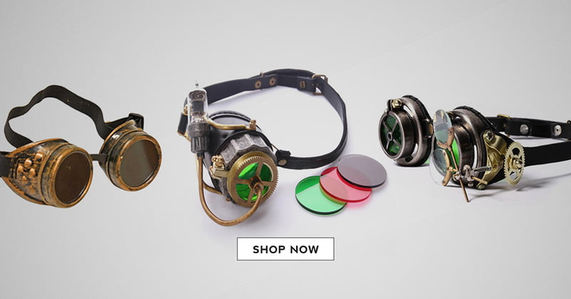 Steampunk Goggles are an edgy and unique gift idea.
