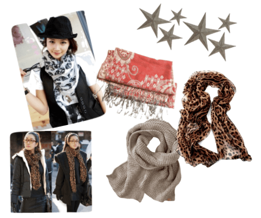 Add a cozy vibe to your outfit with a scarf -- perfect for cold or warm weather!
