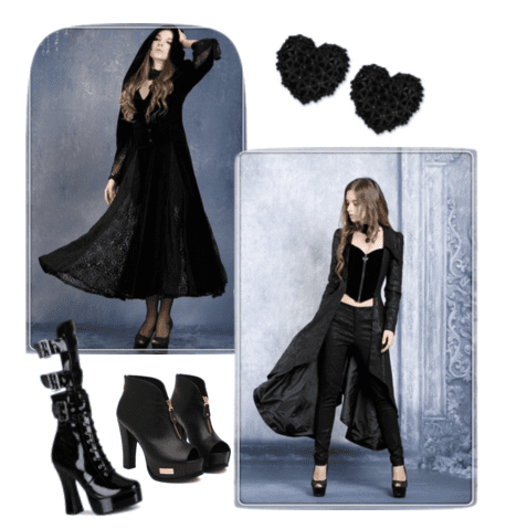 Embrace your dark and mysterious vibe with black lace and corsets on Valentine's Day!
