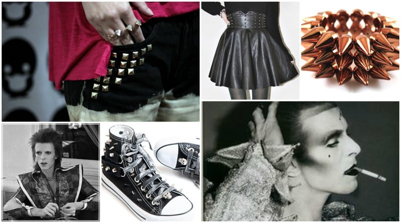 Spikes and studs are important details to achieve David Bowie's glam rock style.