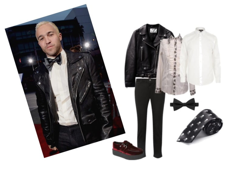 Men have many options on how to wear a black, motorcycle jacket!