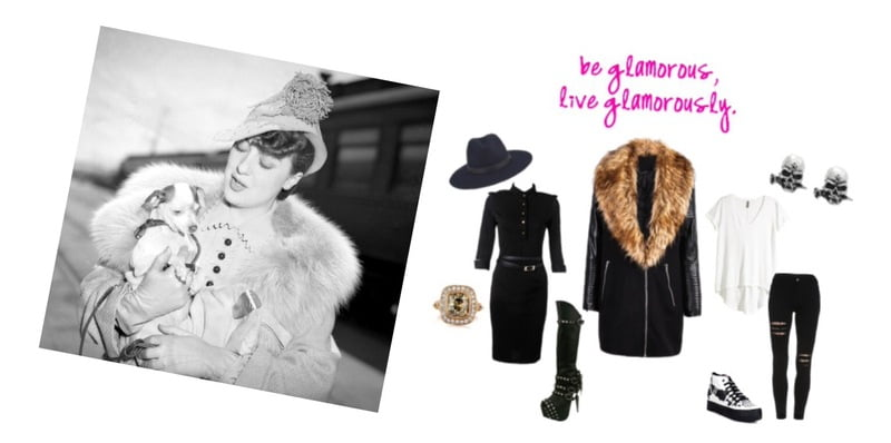 Gypsy Rose Lee inspires glamorous faux fashion!