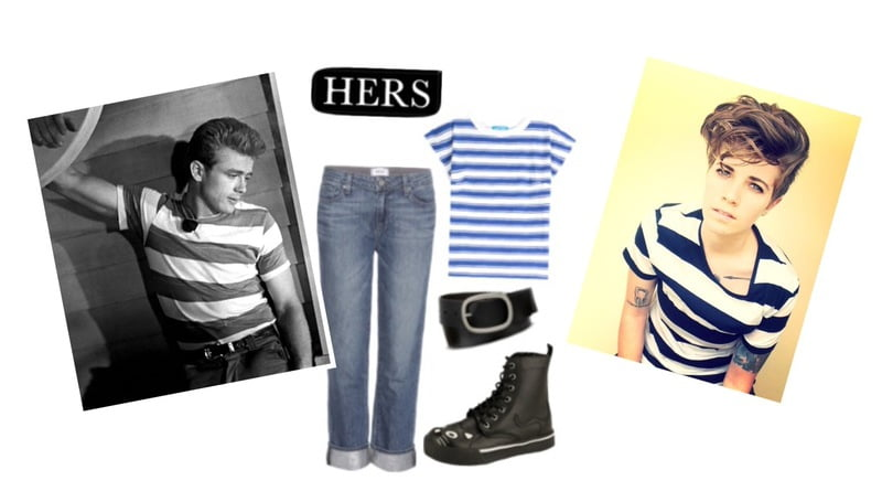 The Classic James Dean look inspires by guys and girls!
